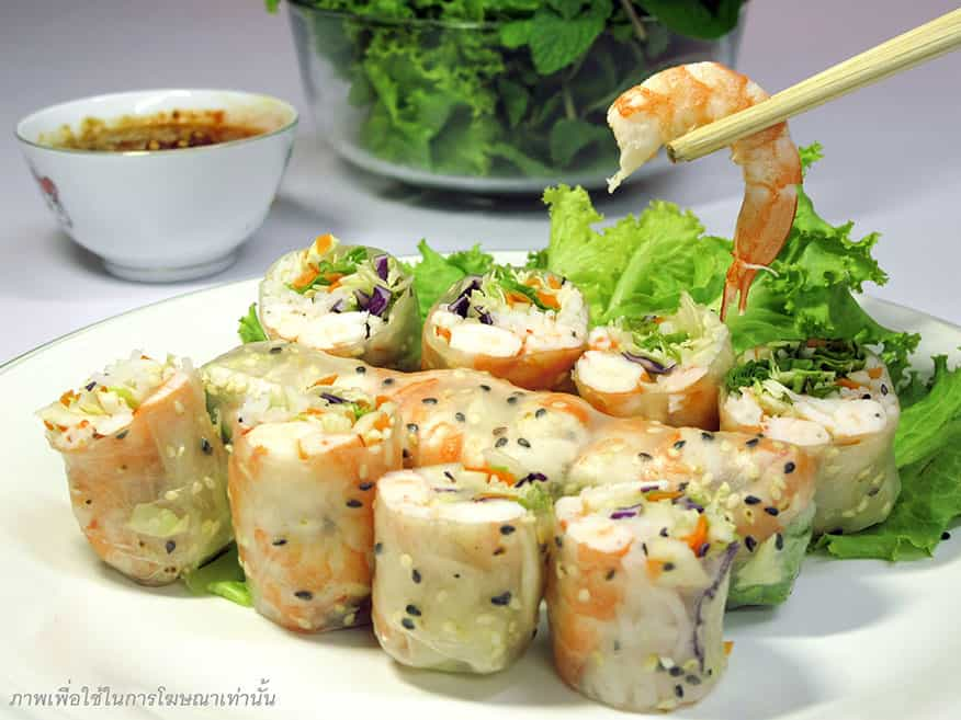 Fresh rolls shrimp